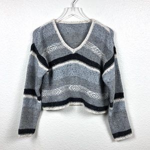 Hand Knit Cropped Sweater